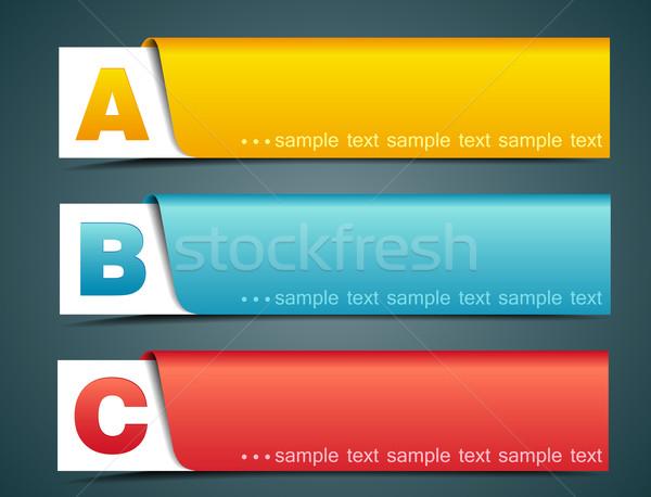 Banner kleurrijk opties sjabloon business papier Stockfoto © odina222