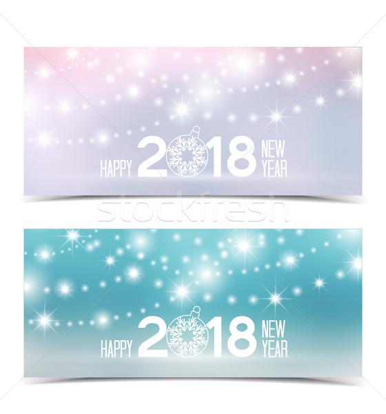 Gelukkig nieuwjaar christmas achtergronden hemel partij gelukkig Stockfoto © odina222