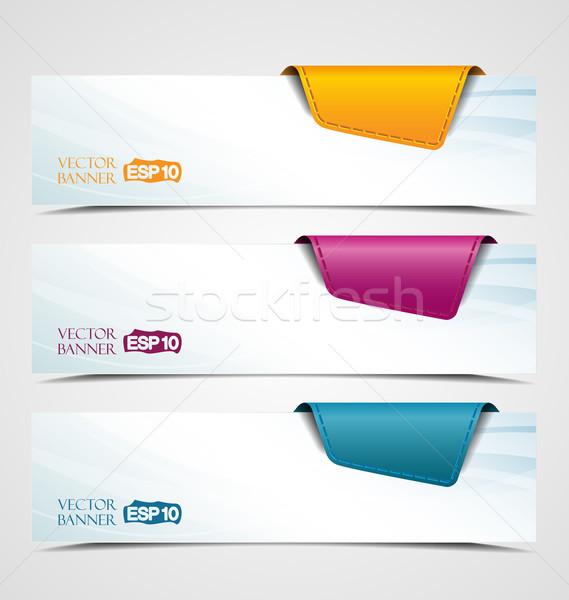 Banners banner product beschrijving ruimte tekst Stockfoto © odina222