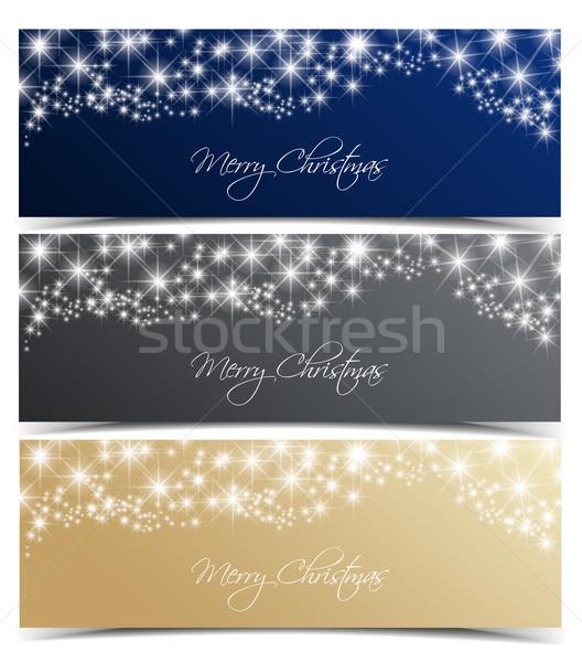 Vector Christmas banners Stock photo © odina222