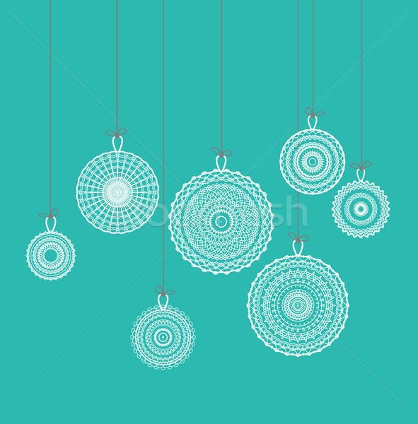 Stock photo: Vector Christmas balls