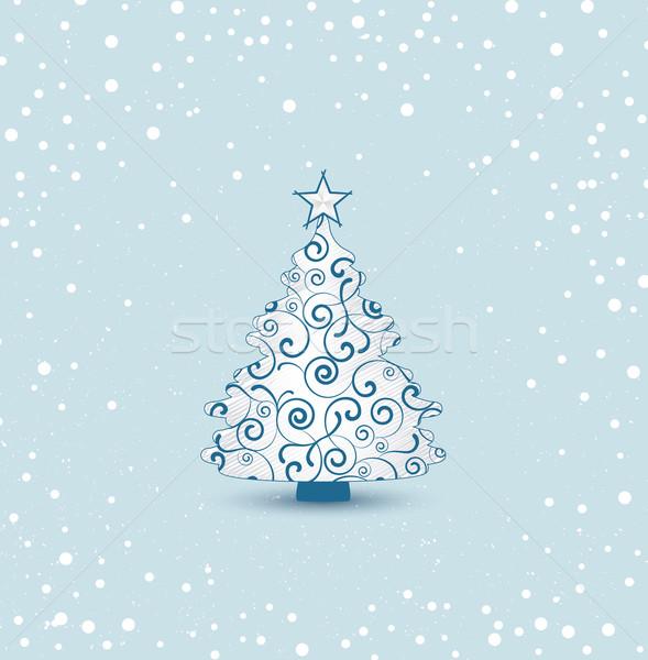 weihnachtsbaum schnee hintergrund zeichen winter. Black Bedroom Furniture Sets. Home Design Ideas