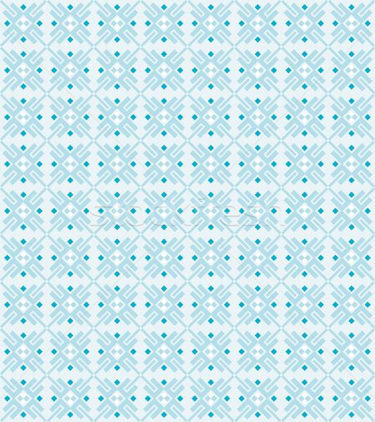 Végtelen minta vektor végtelenített geometrikus minta kék színek Stock fotó © odina222