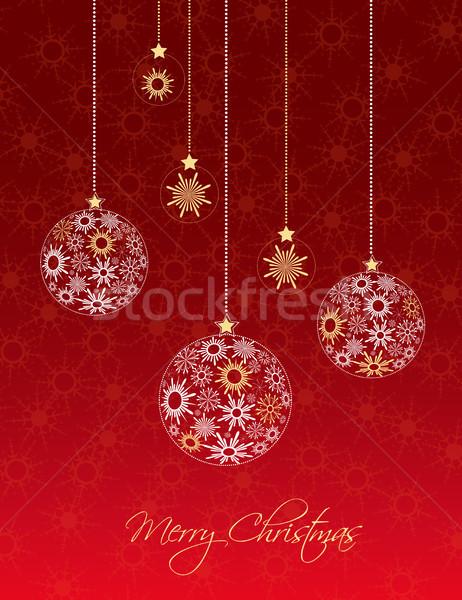 Christmas balls Stock photo © odina222