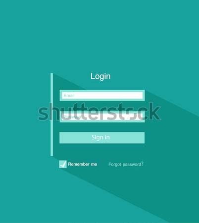 Membro login modelo forma ui projeto Foto stock © odina222
