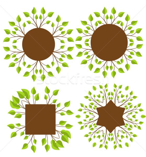 листьев набор украшение место текста Сток-фото © odina222