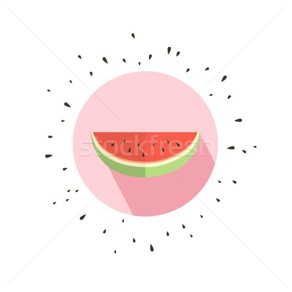 Hallo zomer kaart meloen watermeloen papier Stockfoto © odina222