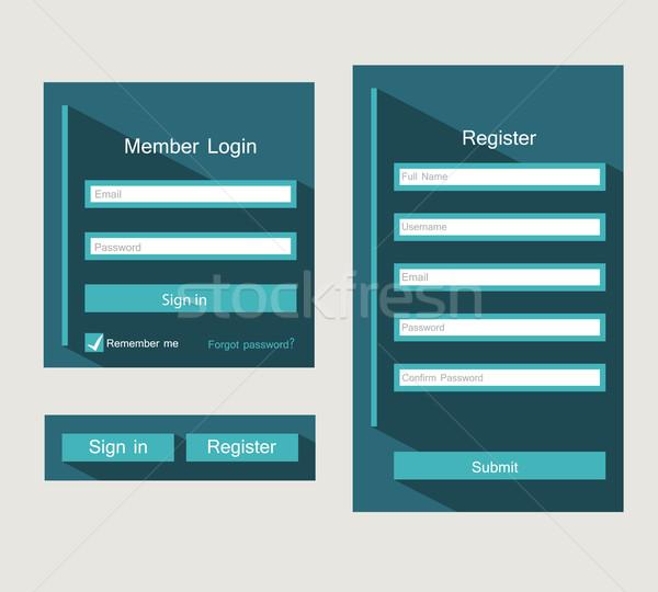 S'identifier forme ui design affaires Photo stock © odina222