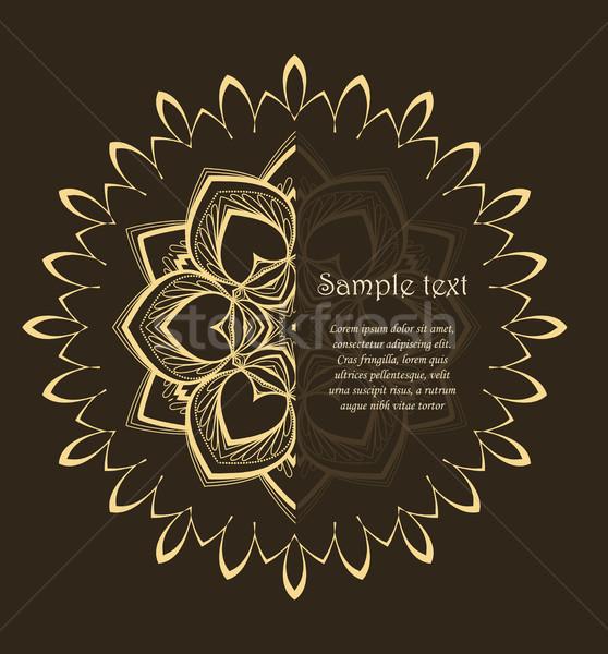 вектора цветок мандала цветочный дизайна коричневый Сток-фото © odina222