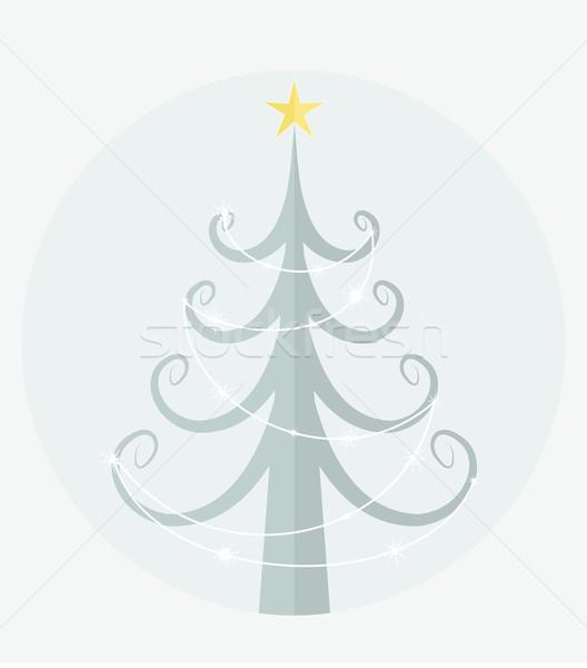weihnachtsbaum vektor blau abstrakten schnee. Black Bedroom Furniture Sets. Home Design Ideas