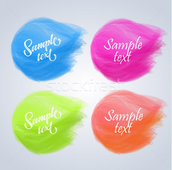 Stok fotoğraf: Vektör · renkli · afişler · elemanları · etiketler · web