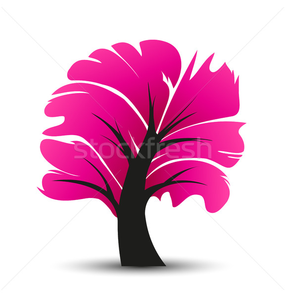 вектора аннотация дерево иллюстрация декоративный розовый Сток-фото © odina222