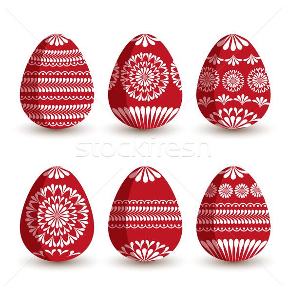 Vector Easter eggs Stock photo © odina222