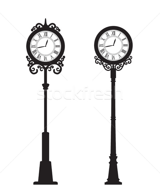 Vector street clock Stock photo © odina222