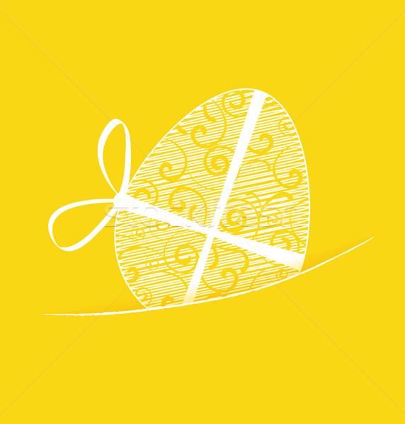 Ostern gelb Osterei glücklich Design Ei Stock foto © odina222