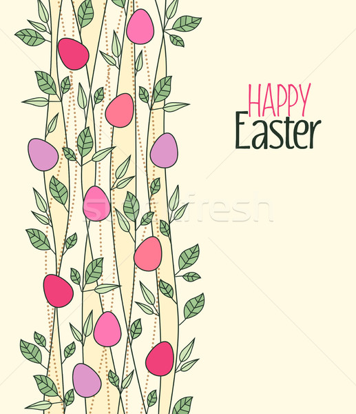 Vektör paskalya yumurtası Paskalya dekorasyon yaprakları Stok fotoğraf © odina222