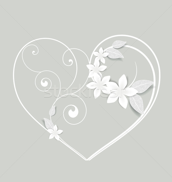Floral heart Stock photo © odina222