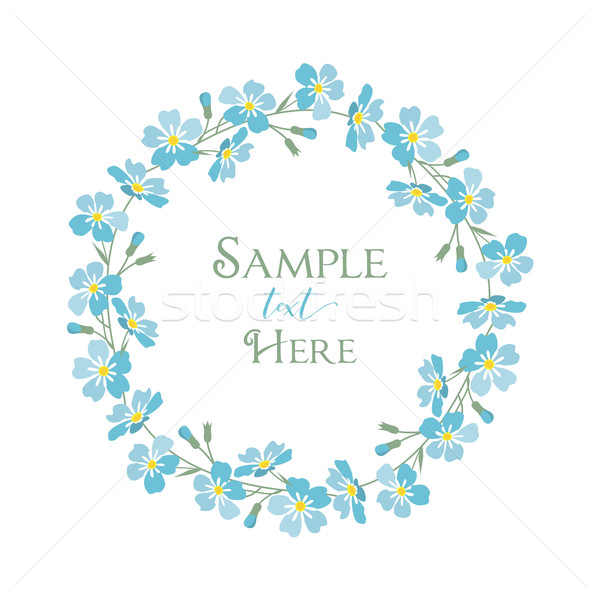 Vector blue forget me not flowers Stock photo © odina222
