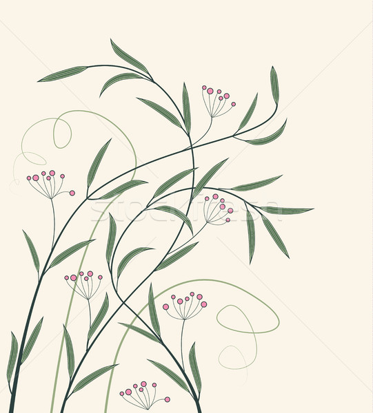 Stock photo: Vector decoration of flowers