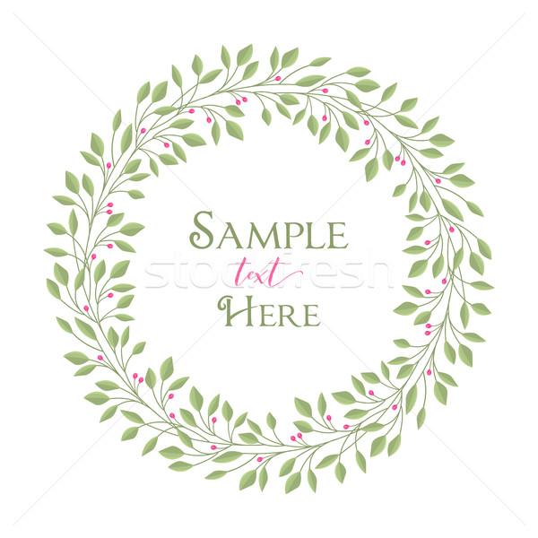 フレーム 葉 自然 ロマンチックな 装飾 ストックフォト © odina222