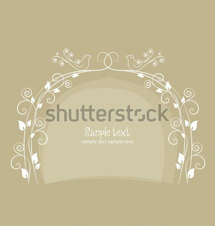 floral frame Stock photo © odina222