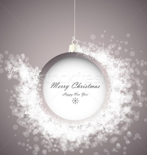 クリスマス ボール 抽象的な 光 雪 パーティ ストックフォト © odina222