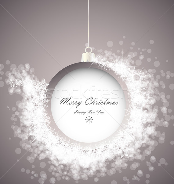 Christmas bal abstract licht sneeuwvlokken partij Stockfoto © odina222