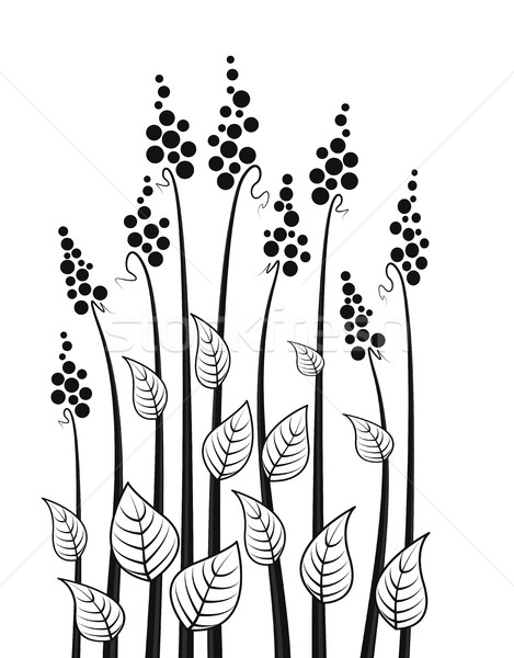 вектора луговой цветы аннотация декоративный цветочный Сток-фото © odina222