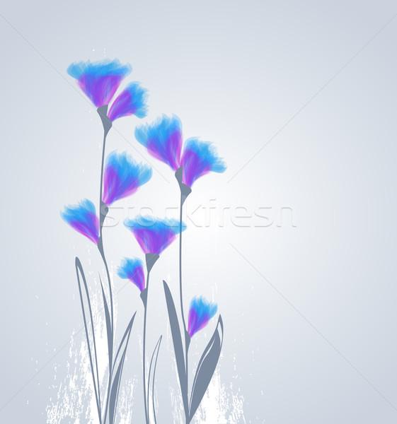 Virágok szürke húsvét tavasz születésnap kert Stock fotó © odina222
