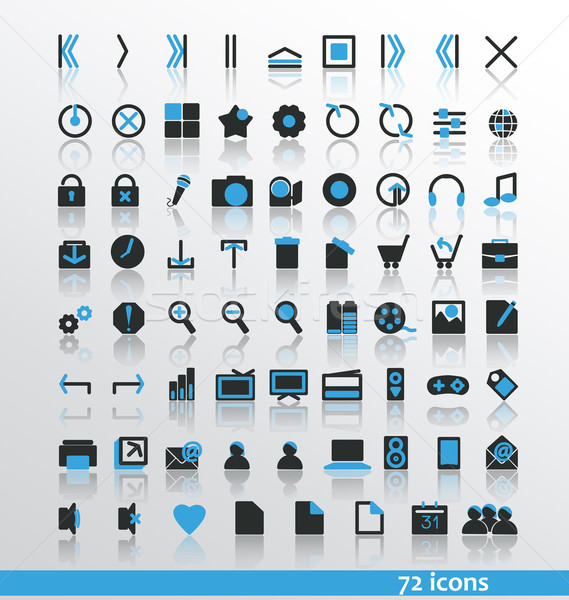 Iconen web mobiele muziek huis abstract Stockfoto © odina222