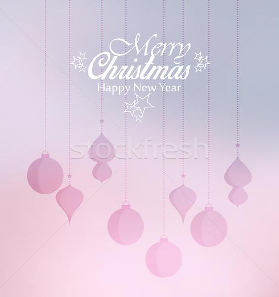 ベクトル クリスマス 装飾的な 紙 ツリー ストックフォト © odina222