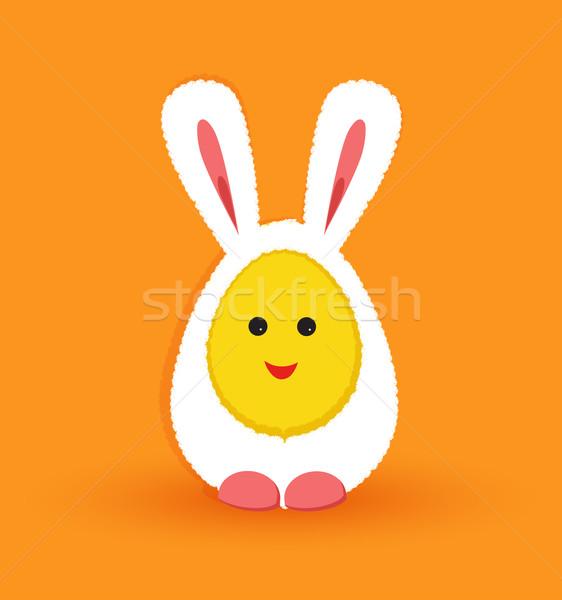 вектора Христос воскрес яйца кролик костюм Пасху Сток-фото © odina222