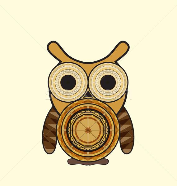 Decorative Owl Stock photo © odina222
