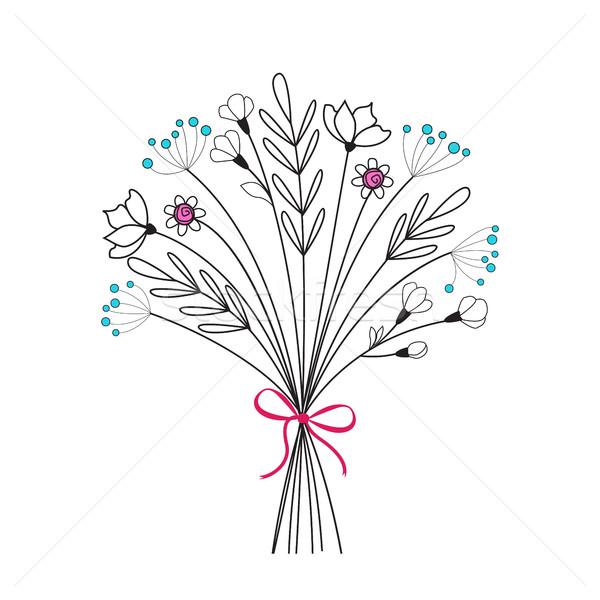 Virágcsokor legelő virágok virág dekoráció vadvirágok Stock fotó © odina222