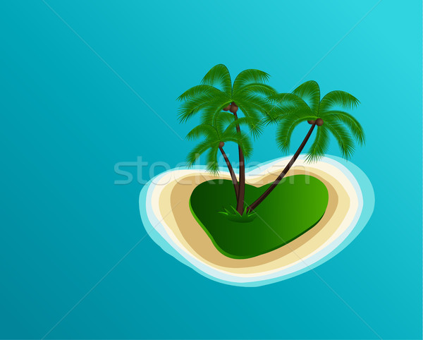 Vector Summer Island Stock photo © odina222