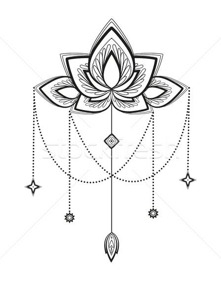 Vector flower mandala Stock photo © odina222