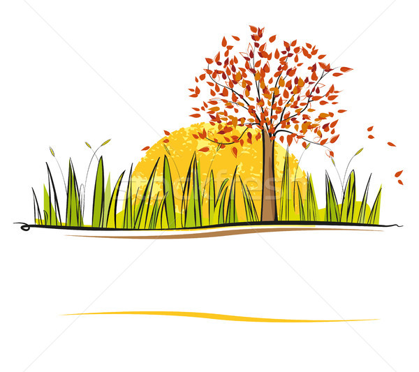 autumn landscape Stock photo © odina222