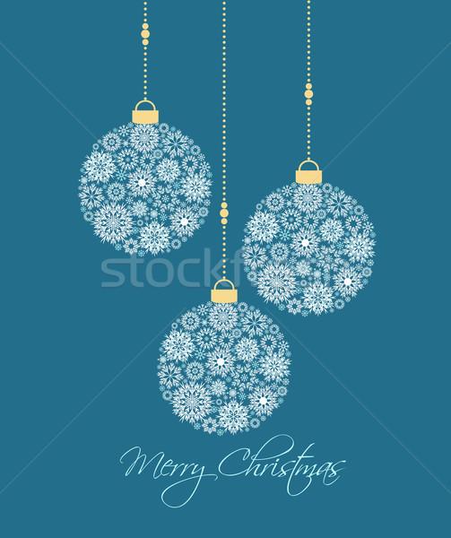 Рождества вечеринка аннотация зима синий Сток-фото © odina222