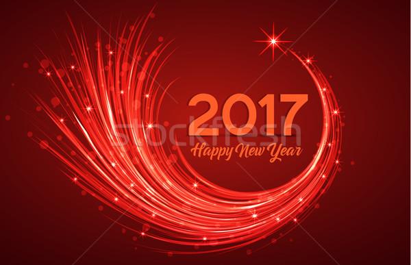 Happy new year parti mutlu takvim kış gece Stok fotoğraf © odina222