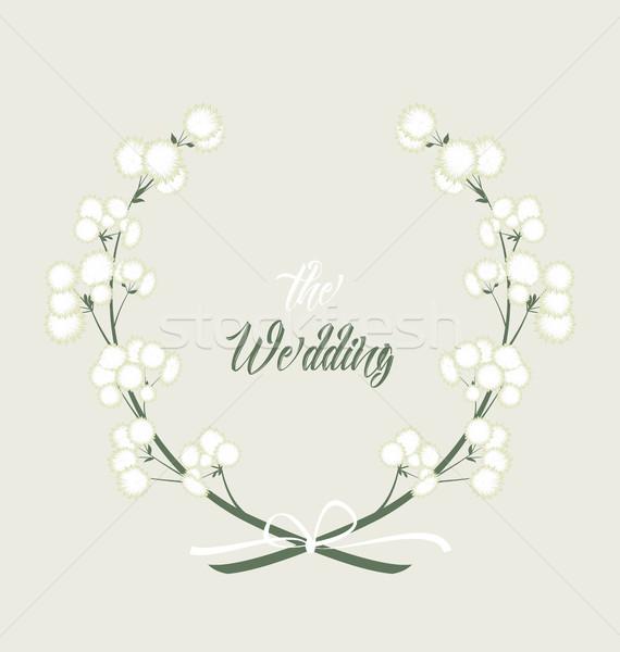 Vetor flores brancas decoração flor jardim fundo Foto stock © odina222