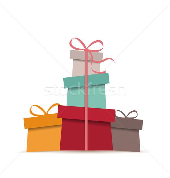 Retro Christmas presents Stock photo © odina222