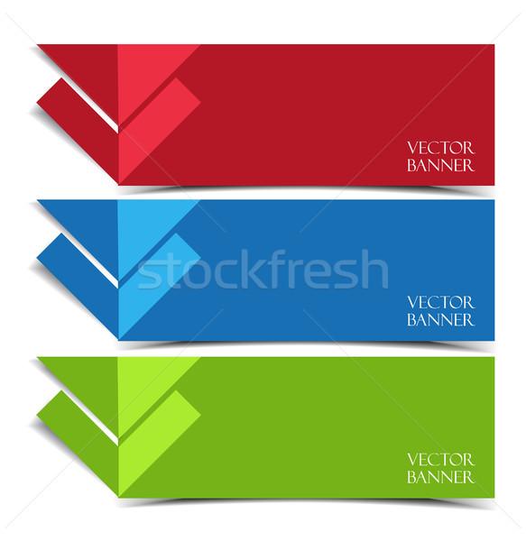 Vecteur modernes bannières papier Photo stock © odina222