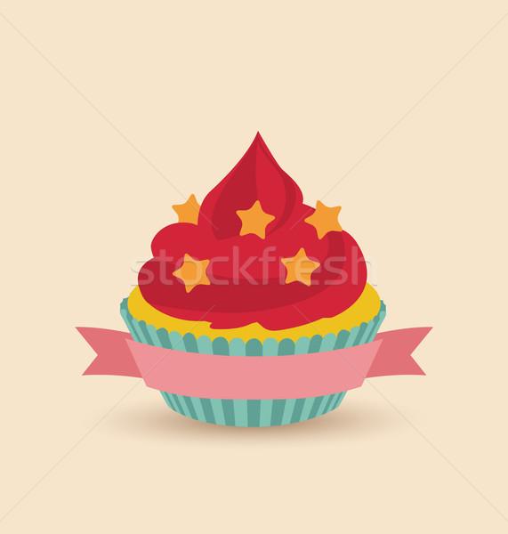 Kleurrijk papier ontwerp verjaardag Stockfoto © odina222