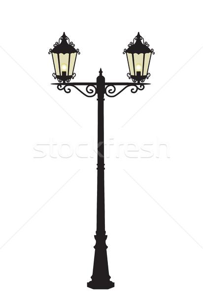 Vector street lamp Stock photo © odina222
