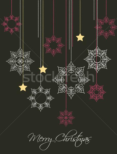 Рождества украшение звезды текстуры аннотация Сток-фото © odina222