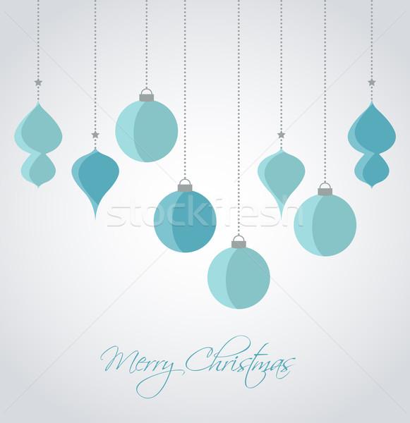 Noel Retro dekoratif vektör Stok fotoğraf © odina222