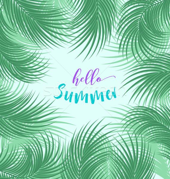 пальма листьев вектора тропические джунгли пляж Сток-фото © odina222
