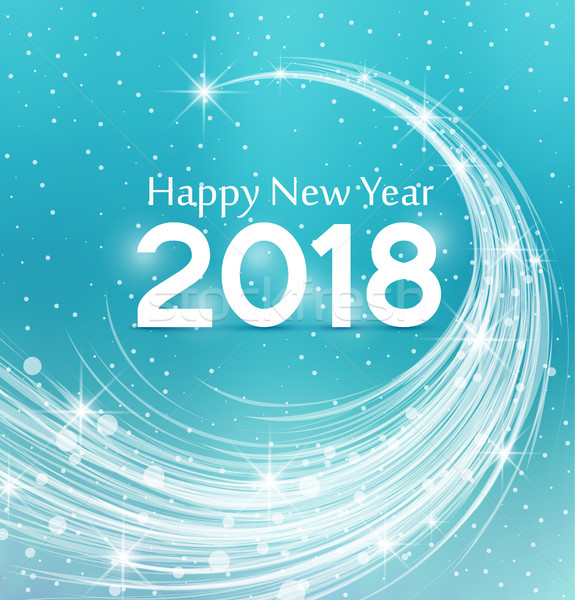 Happy New Year 2018 Stock photo © odina222