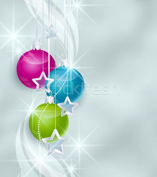 Stock photo: Christmas balls
