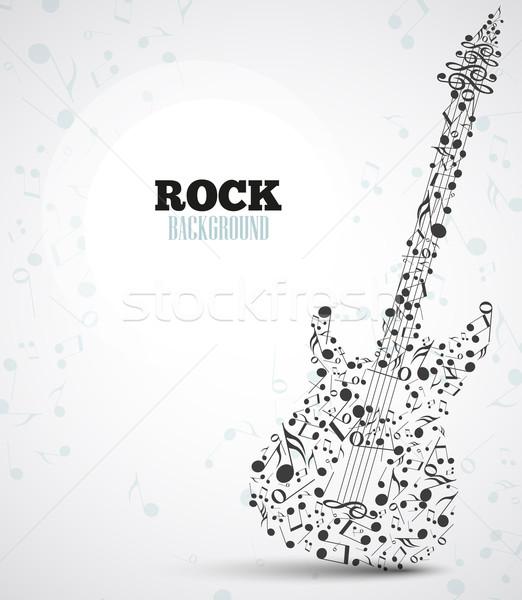 вектора электрической гитаре музыки отмечает форма музыку счастливым Сток-фото © odina222